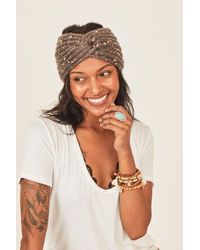 Three Bird Nest Bari Twist Knot Headband - Gray