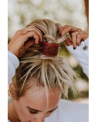 Three Bird Nest Leather Bun Wrap Brown