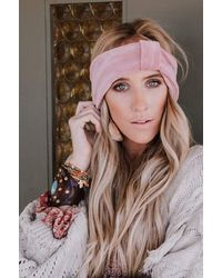 Three Bird Nest Velvet Dreams Knotted Headband - Pink