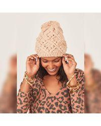 Three Bird Nest - Klara Cable Knit Pom Beanie Hat - Lyst