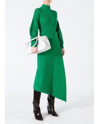 Tibi - Origami Merino Wool Midi Skirt - Lyst