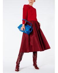 Tibi - Sculpted Wool Zip Sleeve Pullover - Lyst
