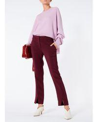Tibi - Luxe Merino Wool Silk Back Pullover - Lyst
