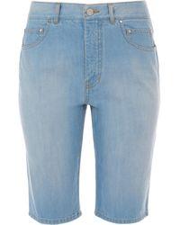 Tibi - Vintage Stone Wash Denim Trish Shorts - Lyst
