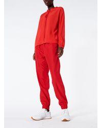 Tibi Silk Cdc Hoodie - Red