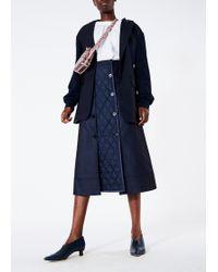 Tibi - Dark Denim Trench Skirt - Lyst
