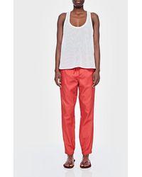 Tibi Pull On Pant - Red