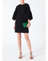 Tibi - Structured Crepe Balloon Sleeve Dress - Lyst