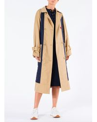 Tibi - Finn Twill Quilted Mix Trench - Lyst