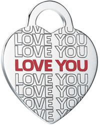 """Tiffany & Co. - Return To Tiffanytm """"love You"""" Heart Tag Charm In Sterling Silver, Large - Lyst"""