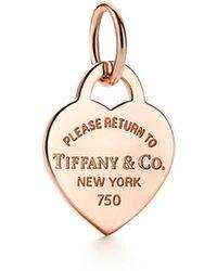 Tiffany & Co. Return To Tiffanytm Heart Tag Charm - Metallic