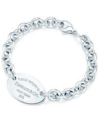 Tiffany & Co. Bracelet Plaque ovale Return to TiffanyTM en argent 925 millièmes Medium - Métallisé