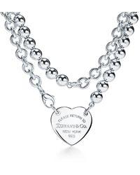 Tiffany & Co. Return To Tiffanytm Heart Tag Wrap Necklace - Metallic