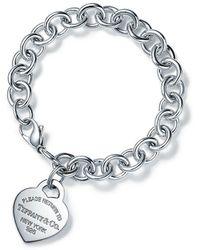 Tiffany & Co. Bracelet avec Charm Plaque Caur Return to TiffanyTM en argent 925 millièmes - Métallisé