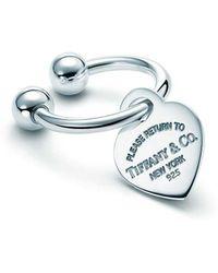 Tiffany & Co. - Heart Tag Key Ring - Lyst