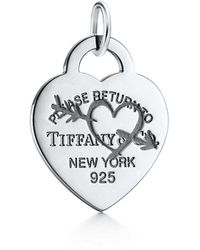 Tiffany & Co. - Return To Tiffanytm Etched Heart And Arrow Tag Charm In Sterling Silver, Large - Lyst