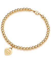 Tiffany & Co. Return To Tiffanytm Heart Tag Bead Bracelet - Metallic