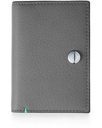 Tiffany & Co. - Vertical Folded Card Case In Grey Grain Calfskin Leather - Lyst