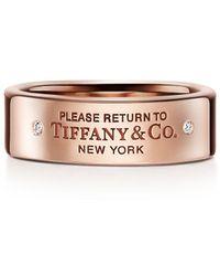 Tiffany & Co. Return To Tiffanytm Narrow Ring - Pink