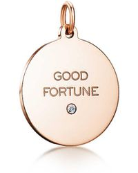 """Tiffany & Co. - """"good Fortune"""" Tag In 18k Rose Gold With A Diamond, Medium - Lyst"""