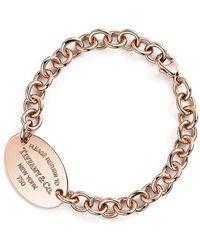 Tiffany & Co. Return To Tiffanytm Oval Tag Bracelet - Metallic