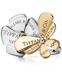 Tiffany & Co. Return to TiffanyTM Love Bugs Schmetterling-Ring mit Blumen, - Mettallic