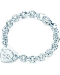 ad3650f2d Tiffany & Co. Peace Tag In Sterling Silver On An Onyx Bead Bracelet, Medium  in Metallic - Lyst