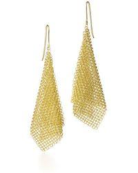 Tiffany & Co. Mesh Scarf Earrings - Metallic