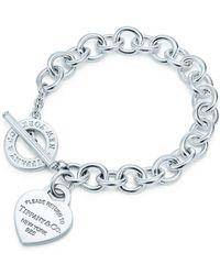 Tiffany & Co. Bracelet à clavier Plaque Caur Return to TiffanyTM en argent 925 millièmes Small - Métallisé