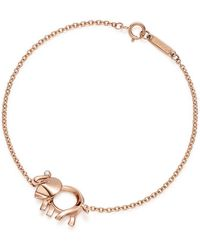 Tiffany & Co. - Tiffany Save The Wild Elephant Charm Bracelet In 18k Rose Gold With A Diamond - Large - Lyst