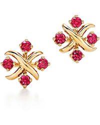 b8284b529 Elsa Peretti® Bean Design Earrings In 18k Gold in Metallic - Save 2% - Lyst