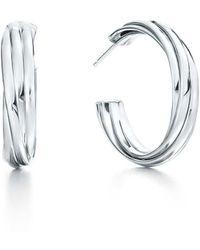 Tiffany & Co. - Hoop Earrings - Lyst