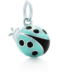 Tiffany & Co. - Ladybug Charm In Sterling Silver With Blue And Black Enamel Finish, Small - Lyst