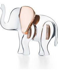 Tiffany & Co. Tiffany Save The Wild Elephant Brooch - Metallic
