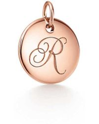 Tiffany & Co. Tiffany Charms Alphabet Charm In 18k Rose Gold, Small Letters A-z Available - Size R - Pink