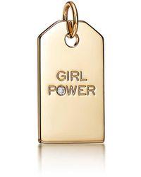 "Tiffany & Co. Tiffany Charms ""girl Power"" Tag - Metallic"