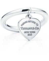 Tiffany & Co. Return to TiffanyTM Ring mit Herzanhänger - Mettallic