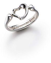 bb7846af4 Tiffany & Co. Elsa Peretti. Doughnut Ring In Sterling Silver - 4 in ...