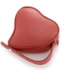 15f887989513c8 Dolce   Gabbana Embellished Heart Box Bag in Red - Lyst