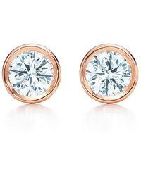 Elsa Peretti Diamonds by the Yard Open Heart earrings in 18k rose gold Tiffany & Co. Qg2KYbWjK