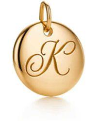Tiffany & Co. Tiffany Notes Alphabet Disc Charm - Metallic