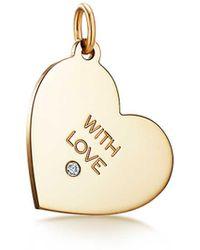 681fc542d Tiffany & Co. Love Heart Tag Key Bracelet in Metallic - Lyst