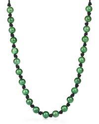 Tiffany & Co. - Elsa Peretti. Sphere Necklace In Green Jade - Lyst