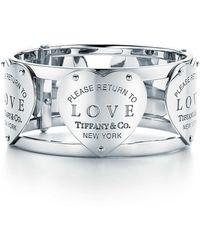 Tiffany & Co. - Love Wide Hinged Cuff - Lyst