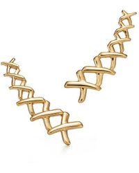 Tiffany & Co. Paloma's Graffiti X Climber Earrings - Yellow