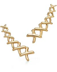 Tiffany & Co. - Paloma's Graffiti X Climber Earrings In 18k Gold - Lyst