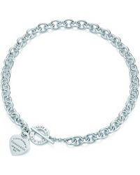 Tiffany & Co | Heart Tag Toggle Necklace In Sterling Silver | Lyst