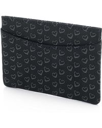 Tiffany & Co. - Elsa Peretti. Card Case In Black Leather With Lacquered Open Hearts - Lyst
