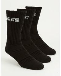 Vans - 3 Pack Mens Crew Socks - Lyst