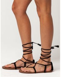 857726c4588 Lyst - Free People Sun Seeker Gladiator Sandals in Natural